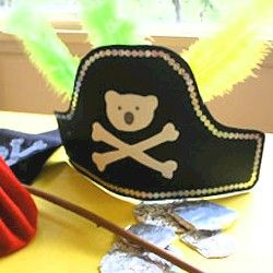 Pirate Hat Craft-- Substitute an iguana for the bear.