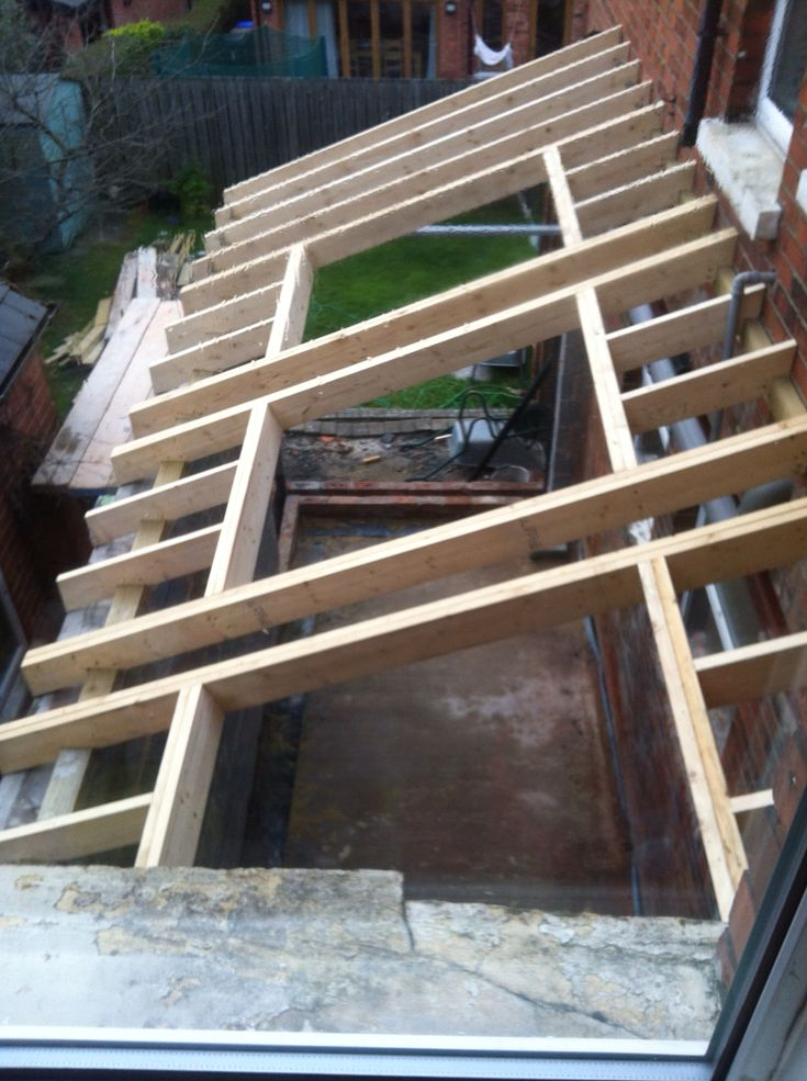 Rafters being fitted and trimmed for roof lights