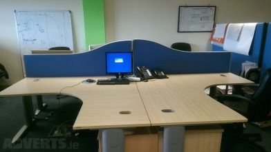 Office Desks Chiars and Panels - A large range of office Tables (different shapes and sizes)  Leat...
