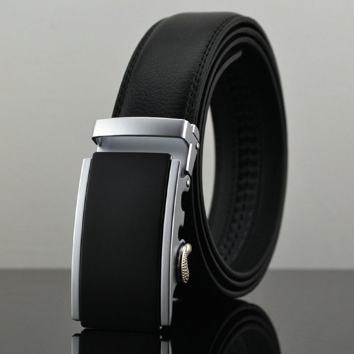 Cheetah automatic buckle leather belts Fashion men belt cowhide belts