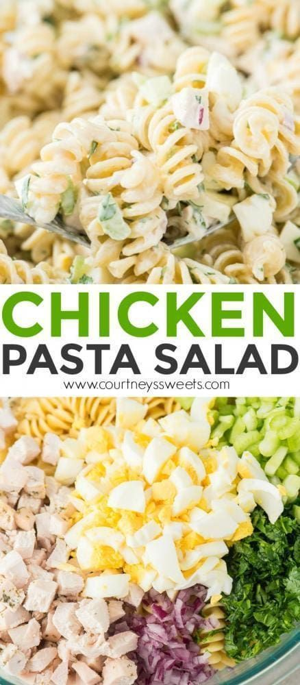 Chicken Pasta Salad – Salate und Dressing Rezepte – #Dressing # Chicken Pasta Salad …   – Salat