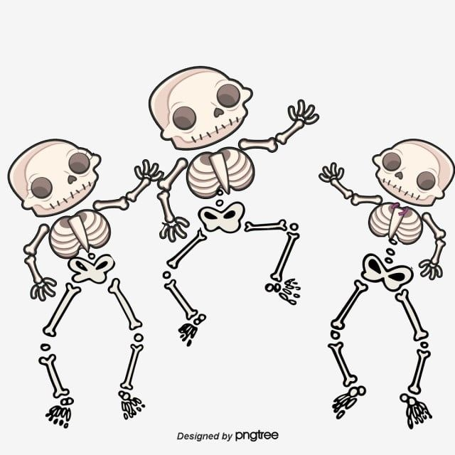Vector Painted Three Skeletons Dancing Skeleton Vector Hand Painted Skull Png Transparent Clipart Image And Psd File For Free Download Dance Vector Paint Vector Skeleton Art