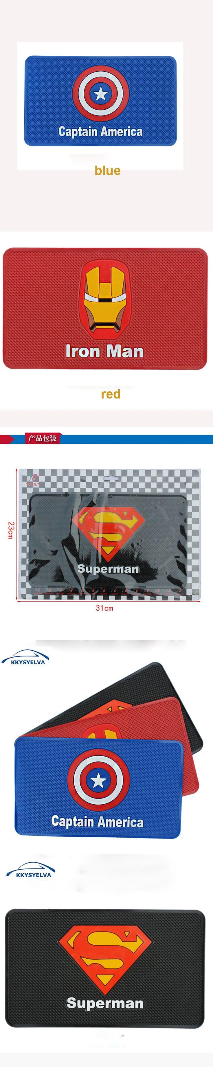 KKYSYELVA 31x23cm Black Car Anti-Slip Mat Non-slip Mobile Mat Cell Phone Key Holder Car Dashboard Sticky Pad