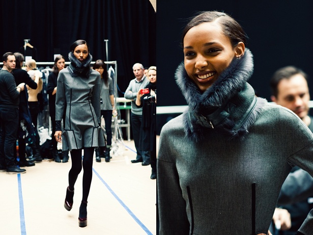 DKNY NYFW.  The collar is actually like a muff/scarf.   Awesome.