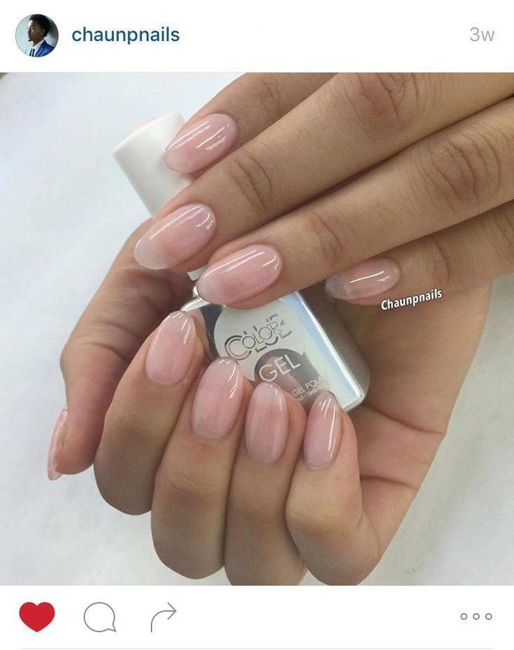 Short clear gel nails ( nude )