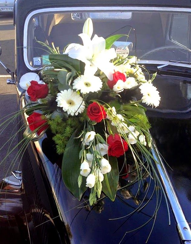 45 Best Deco Voiture Images On Pinterest Wedding Car Decorations Wedding Cars And Flower