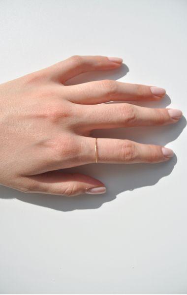 Minimal + Classic: Saskia Diez Gold Superfine Ring—Anaïse