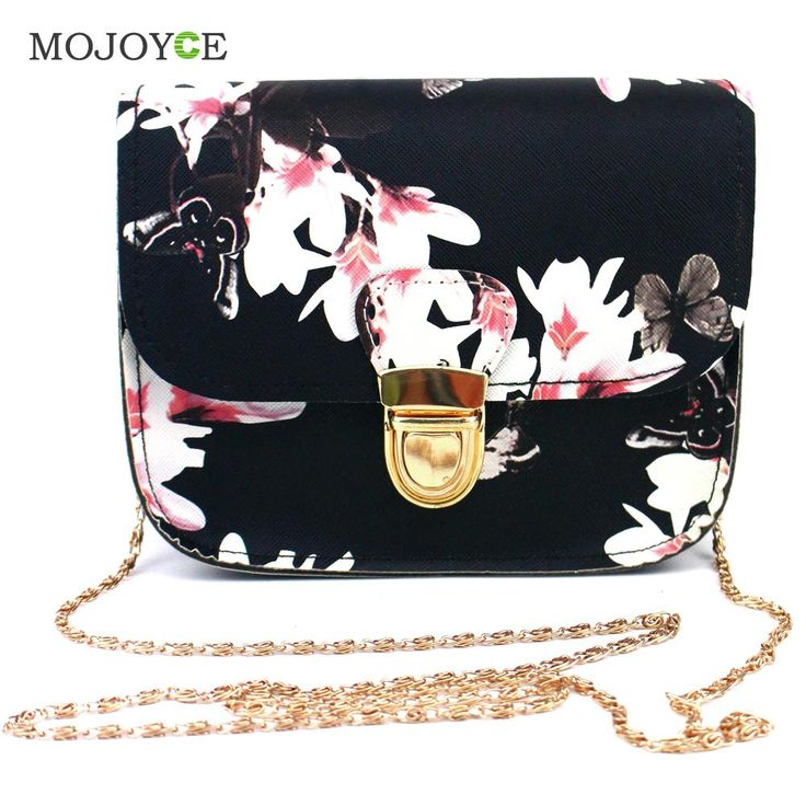 Floral Print Women Leather Handbags Chains Shoulder Crossbody Bag Women Bag Satchel Tote Women Messenger Bags Bolsa Feminina <3 Find similar products by clicking the VISIT button