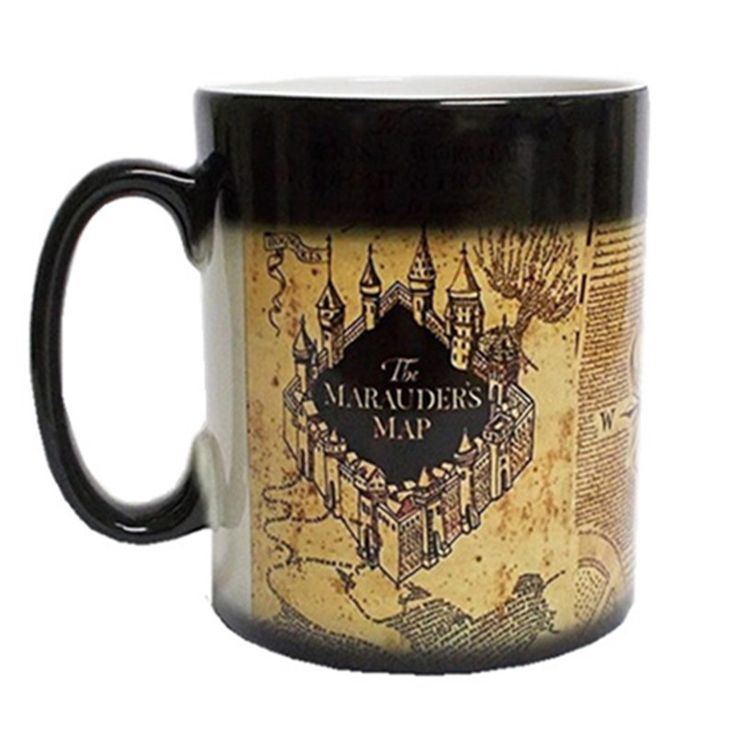 Harry Potter Marauder Map Coffee Mug Color Change Tea Milk Cup Sensitive Ceramic Tea La Copa Friends Gift