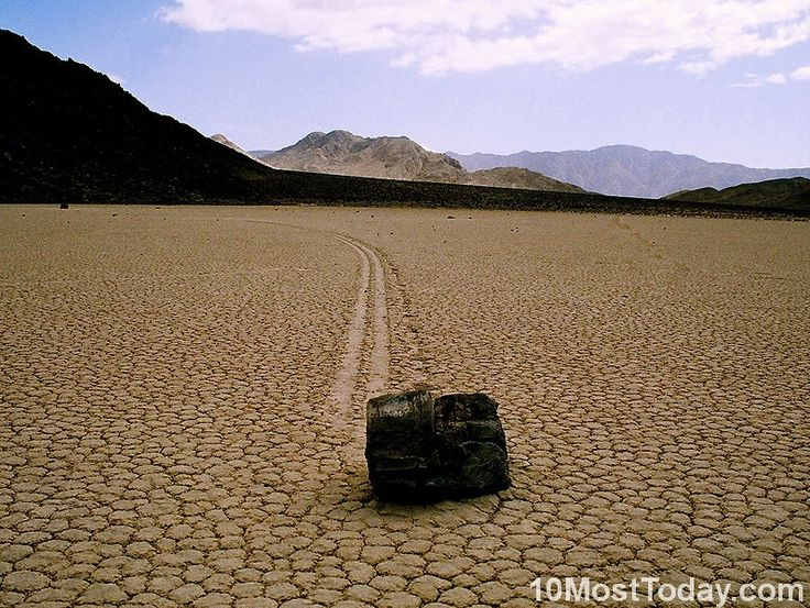 Most Unique Local Phenomenons: The Sailing stones in Death Valley National Park (source: wiki)