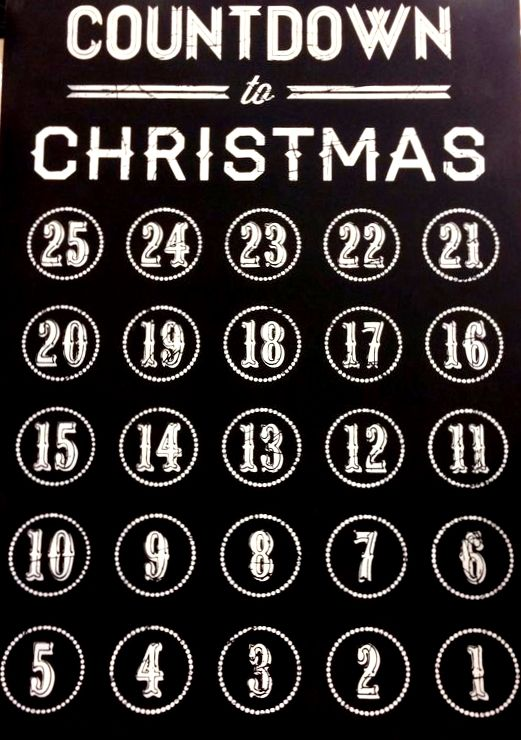 Chalkboard art quote ToniKami ⊱CհαƖҜ ℒЇℕ℮⊰ Countdown to #Christmas advent #DIY crafts zulily.com