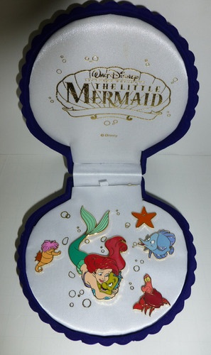 DSF Disney Little Mermaid Ariel Hugging Flounder Seahorse Sebastian Box Pin Set | eBay