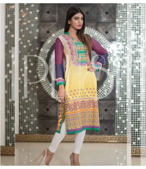 Plush Embroidered Kurti Collection 2015 Vol-1 by Riaz Arts EK-05