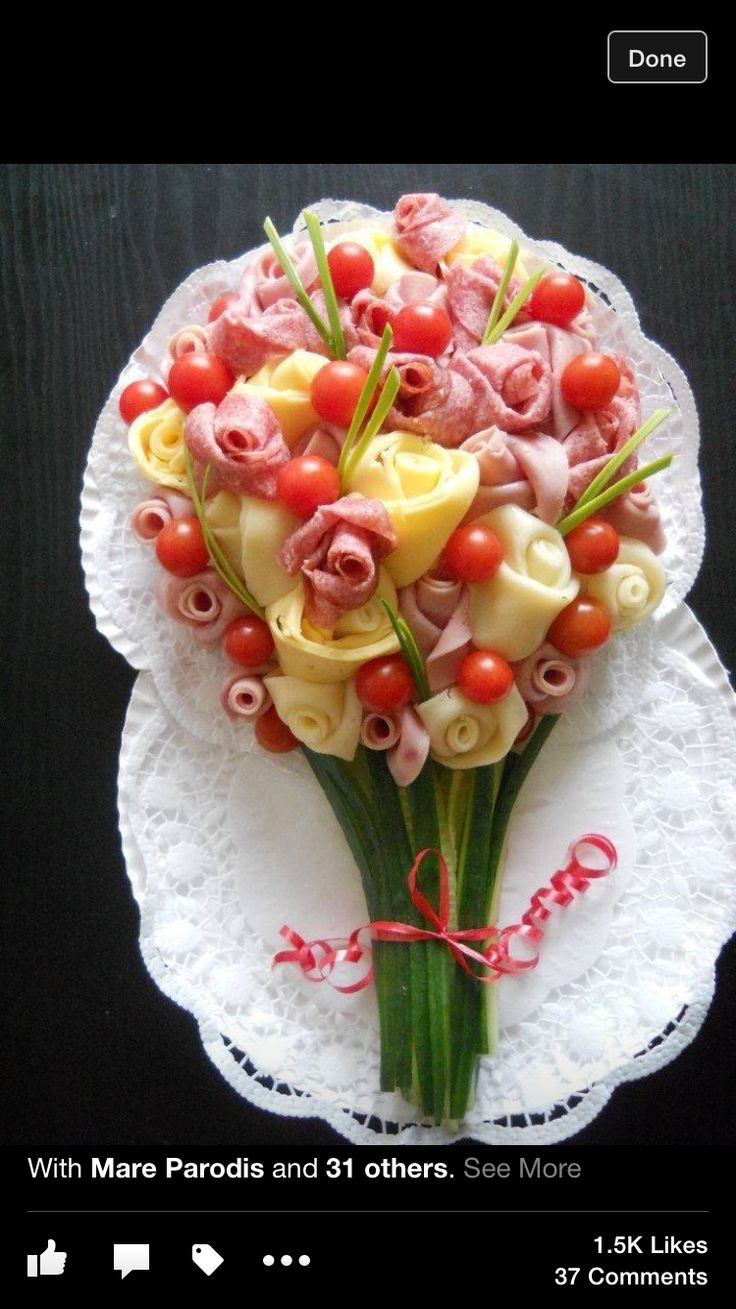 Antipasto bouquet platter natale pinterest for Dekoration essen