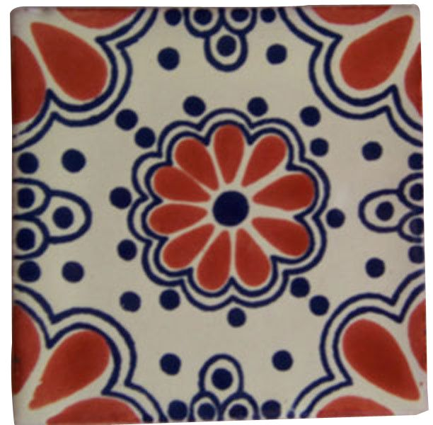 "4"" x 4"" Talavera Handpainted Mexican Tiles. Please Note: Your item is custom made for you by an Artisan in Mexico. Your item will ship in less than 10 days. Fedex Domestic Shipping with Door to door t"