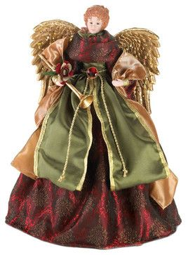 Christmas Angel Doll & Tree Topper - transitional - Christmas Ornaments - Gifts Galore And More