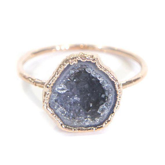 Geode Ring, Tiny Geode Ring, Geode Rings, Geode Jewelry, Geode Jewelry Gift, Boho Ring, Electroformed Ring, Raw Stone Ring, Raw Stone Jewelry, Raw Crystal Ring, Raw Crystal Jewelry, Stone Ring, Electroformed Stone Ring, Geode Gift For Her, Unique Jewelry, Etsy Jewelry, Unique Jewelry Gift, Gift For Her, Boho Gift, Boho Gift For Her, Etsy Jewelry Gift, Rings On Etsy, Electroformed Geode Ring, Unique Etsy Jewelry, Gift For Wife, Gift For Girlfriend, Crystal Ring, Raw Stone Rings
