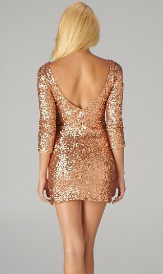 Little Glitter Rose A Mini Sequin Sparkle Dress Gold Hqf7wqI