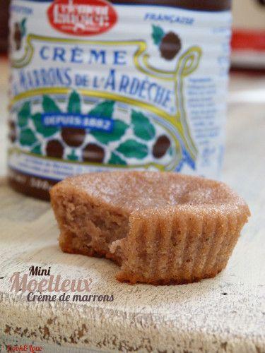 #YummyCremeMarron - Mini Moelleux à la Crème de Marrons - Mon Carnet de Recettes à Partager
