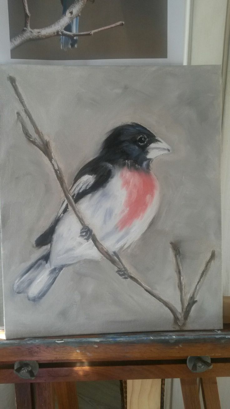 #my art - bird in oils