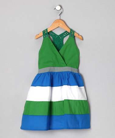Take a look at this Blue & Green Color Block Colin Dress - Infant, Toddler & Girls by KandyCrew on #zulily today!  Love the colors on this, so cute