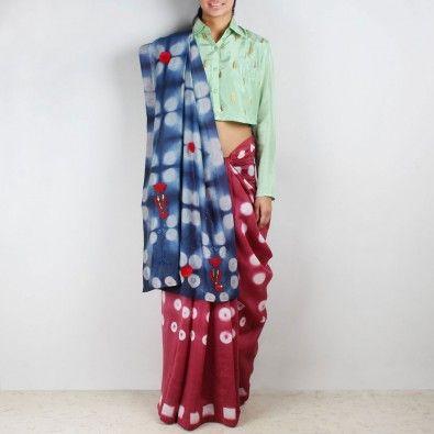 Do Rang Tie Dye Saree