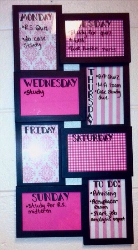 Picture frame week board