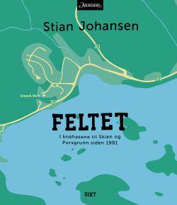 """Stian Johansens andre utgivelse, """"Feltet. I knehasene til Skien og Porsgrunn siden 1981""""."""