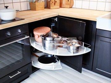 IKEA UTRUSTA Corner Base Cabinet Pull Out Ftting