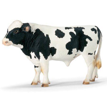 Schleich Holstein Bull Animal Figurine, Multicolor