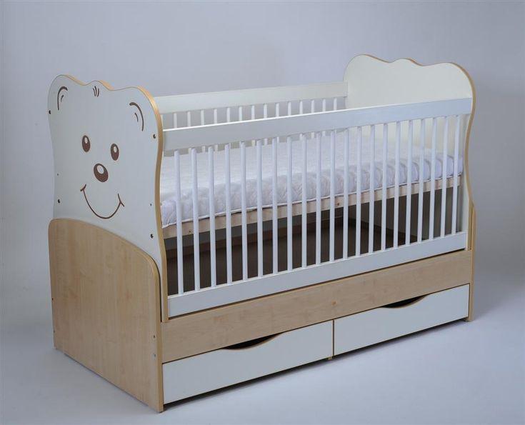 Patutul copii MYKIDS Teddy 3609 este un patut pentru copii confectionat din fag si pal de cea mai buna calitate cu un design atractiv si modern cu ursulet...
