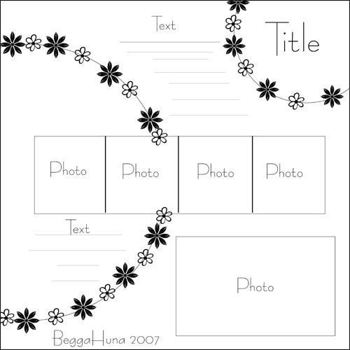 like the concept maybe bigger photos for the center row (four 3x3s or three 4x4s trimmed a little for border) could do snow flakes, but like the flowers