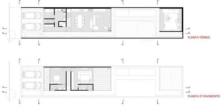 Planos de casa peque a y angosta dise os y planos de - Planos y disenos de casas ...