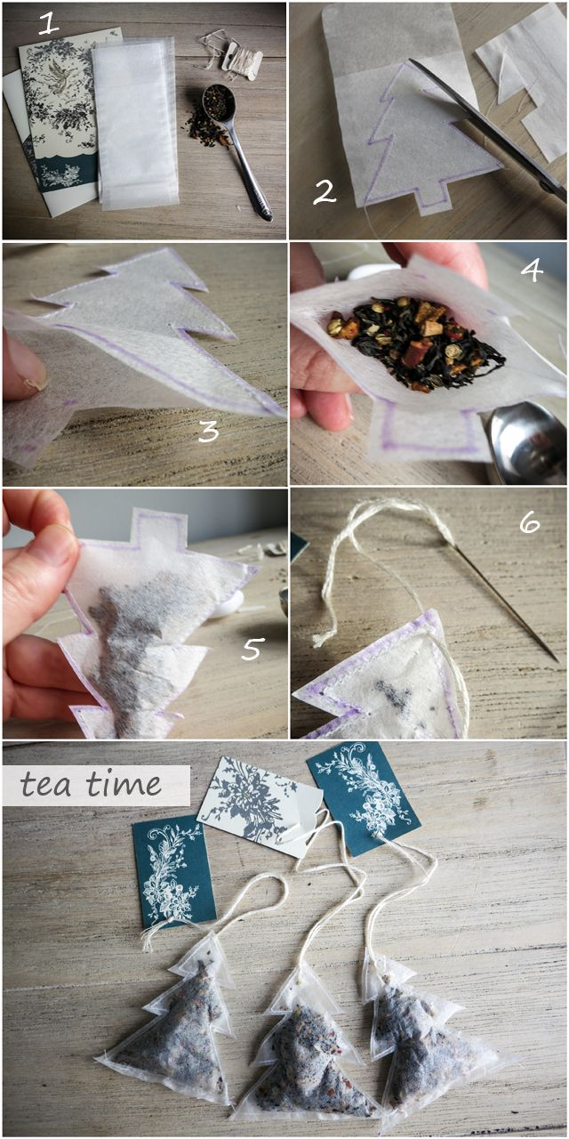 Loose leaf tea DIY: Make one of these for a special occasion or fast gift ;)