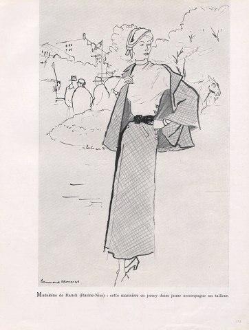 Madeleine de Rauch 1948 Bernard Blossac, Fashion Illustration