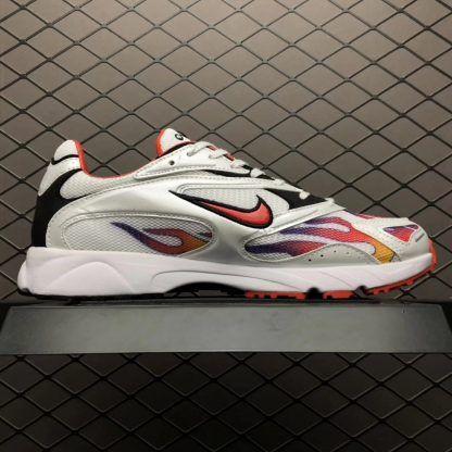 Supreme x Nike Zoom Streak Spectrum Plus White Habanero Red Black  AQ1279-100-4 986d0dd43