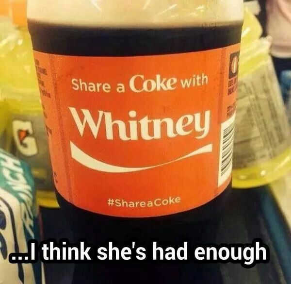 Share a coke with Whitney