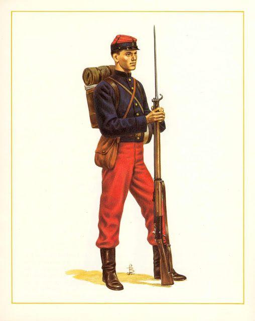 MINIATURAS MILITARES POR ALFONS CÀNOVAS: CHILE SOLDADO DE INFANTERIA EN CAMPAÑA, 1878.
