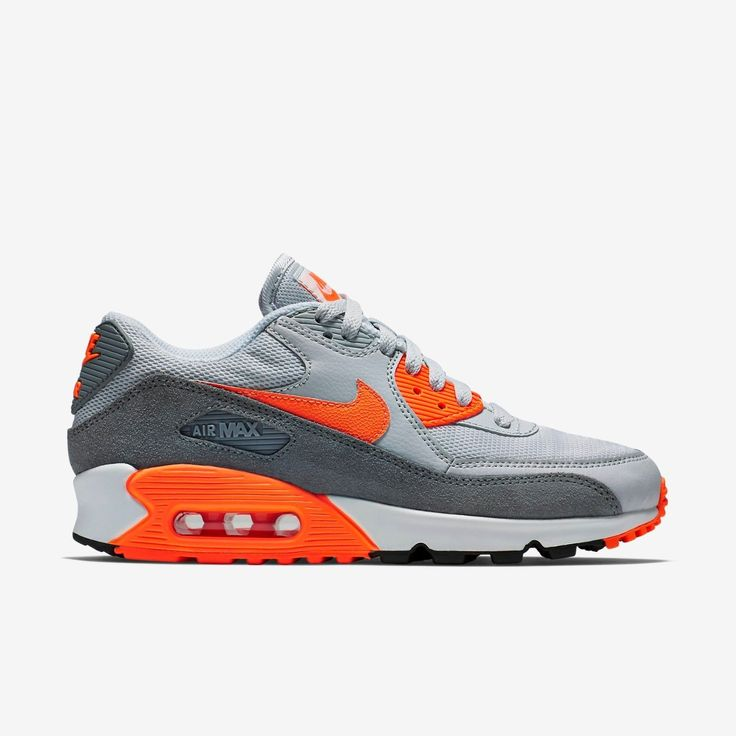 NIKE AIR MAX 90 ESSENTIAL PLATINUM ORANGE COOL GREY 616730 018 $ 140