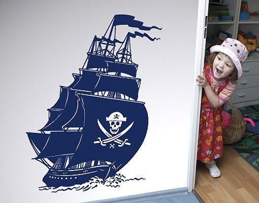 #Wandtattoo #Kinderzimmer No.SF506 #Piratenschiff #Kinderzimmerdeko #Wandgestaltung #Kids #Pirat