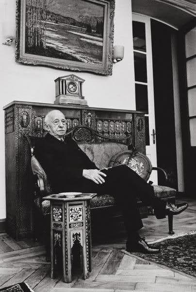 İsmet İnönü, Pembe Köşk Ankara 1960 by Ara Güler