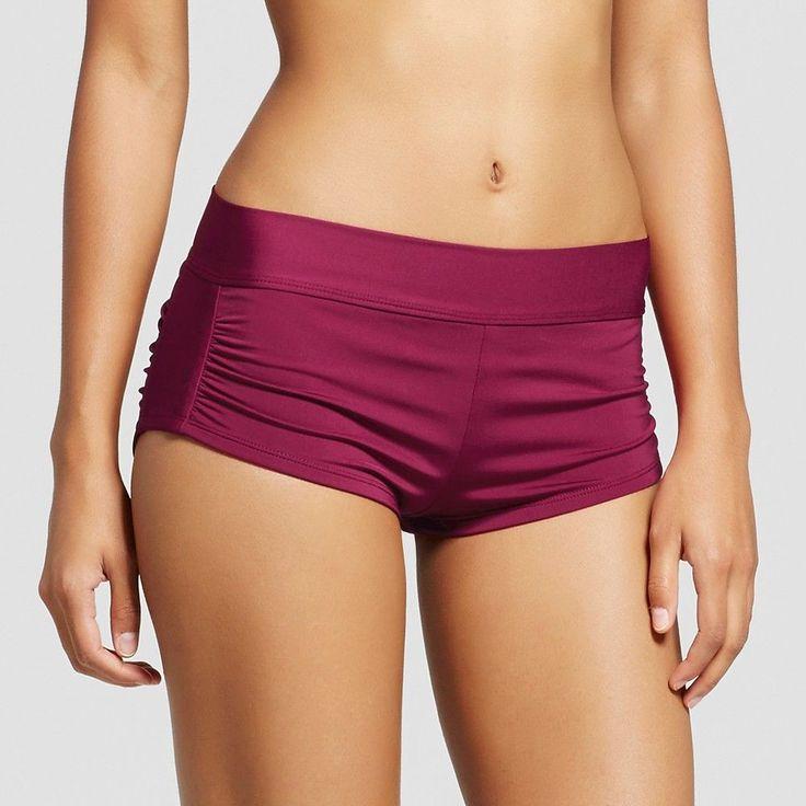 Women's Shortie Bikini Swim Short - Deep Red - L - Mossimo