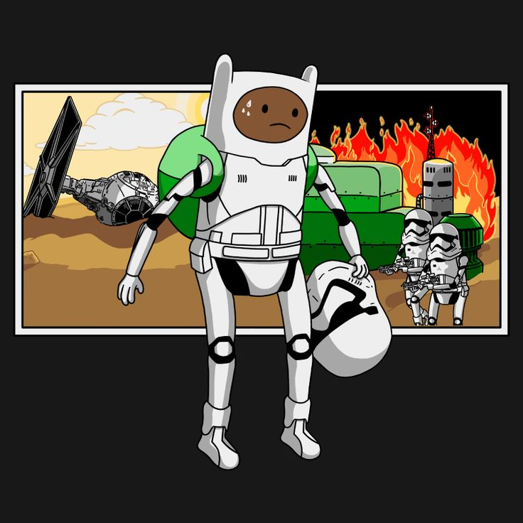 Finn's Conflicts Time! #stawars #mashup #adventuretime #finn