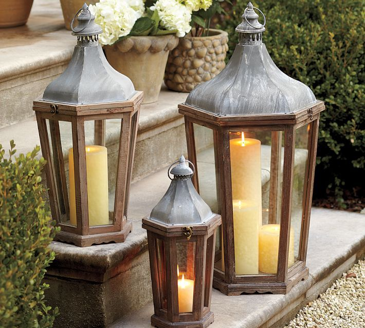 I Use These Pottery Barn Lanterns Indoors Too. Outdoor LanternOutdoor  LightingLighting ...