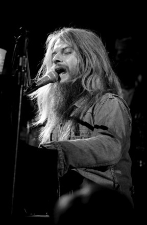 I took this shot of Leon Russell in 1973 in Richmond, VA. Tri-X Pan pushed to 3200 asa and special processed in my basement. Copyright Ed Hazelwood