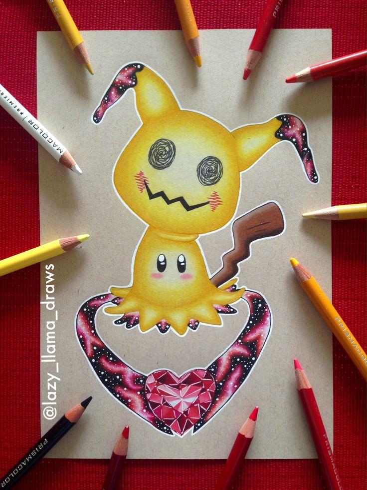 Drawing galaxy Pokémon Mimikyu