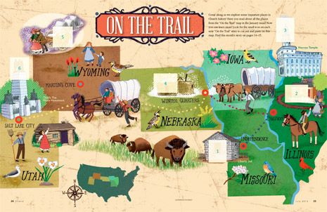 Fun map activity for kids of LDS Church history sites
