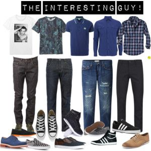 """The interesting guy"" by stylemezu on Polyvore"