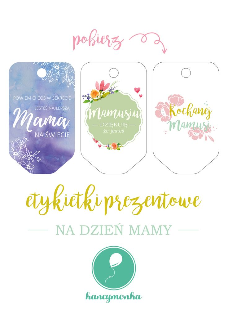 dzien mamy, dzień mamy, dzień matki, 26 maj, mothers day, kartki, greeting cards, do druku, etykietki, freebie, grafika, darmowa, pobierz, labels, gift, hancymonka
