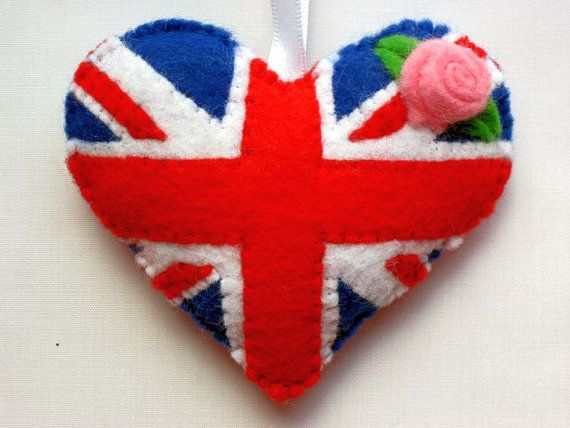 Heart Felt UK GB Flag Love Heart Valentines by AppledoorStudio, £7.99